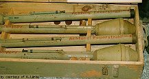 Panzerfaust in wooden crates